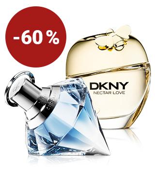 Jusqu'à -60 % sur les parfums pour elle
