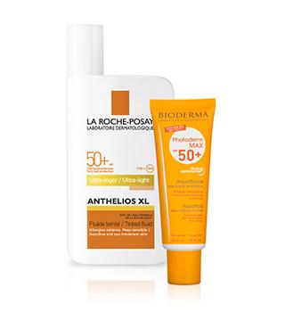 Cremes et préparations solaires dermo-cosmétiques